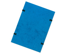 Documents Folder A4 RainbowLine, cotton, bothside cover, pressboard Blue 20pcs